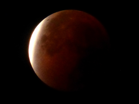 Total lunar eclipse at 0328 UTC